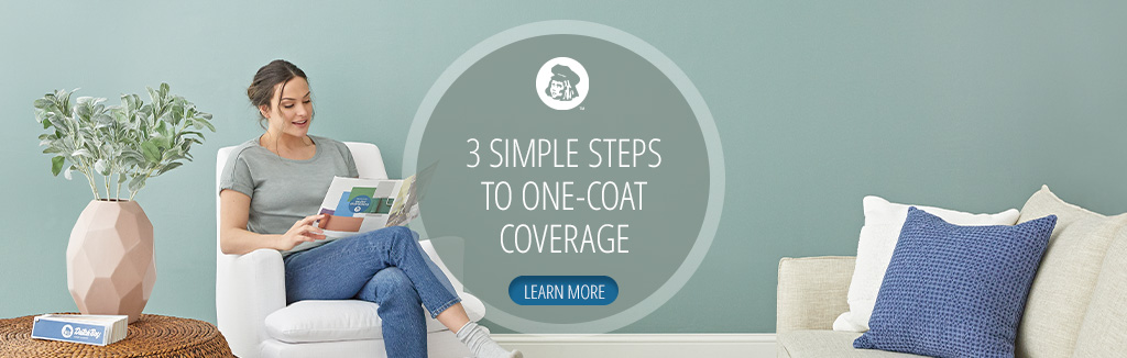 3 simple steps to one-coat coverage